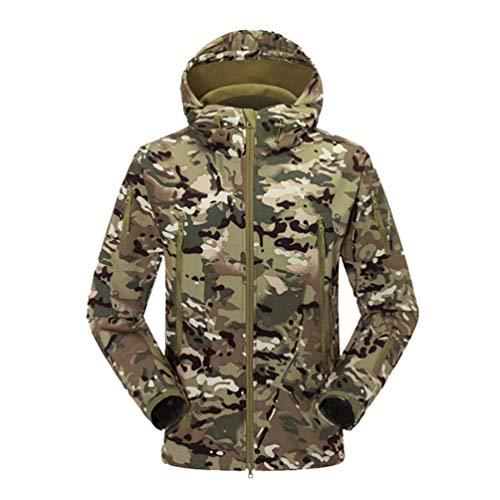 pour molleton 2 matelassée Zhrui Taille en Softshell capuche Couleur pour Blousons imperméable hommes Camouflage et Xs poches l'hiver de voyage Veste avec ZwHwOqxBS
