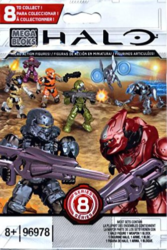 (Halo Mega Bloks Series 8 Micro Action Figure Blind Bag Mini Figure)
