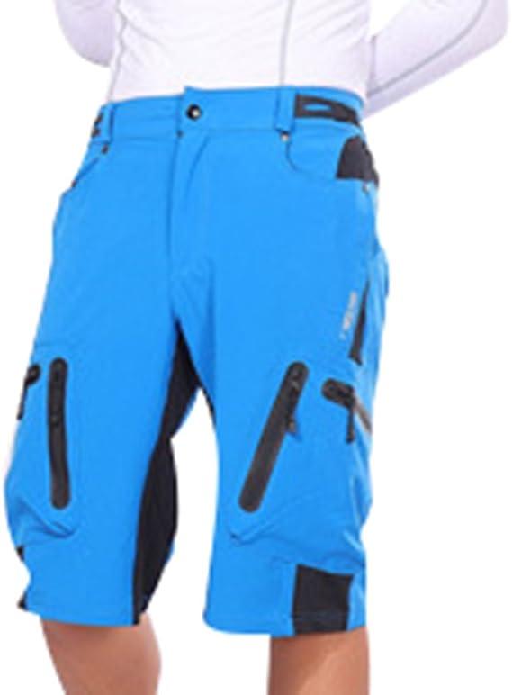 Ketamyy Hombre Pantalones Cortos De Bicicleta De Montaña Bolsillo ...