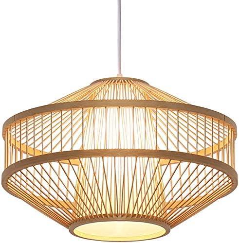 KOUBOO 1050105 Panay Wicker Pod Hanging Ceiling Lamp One Size Wheat