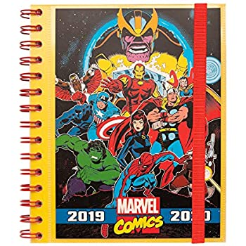 Amazon.com : School Diary 2019/2020 Day Page M Marvel ...