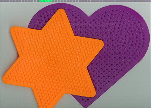(Large Heart and Star Pegboards for Perler Fuse Beads by)
