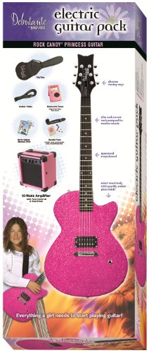 (Daisy Rock Debutante Rock Candy Princess Atomic Pink Electric Guitar Pack)