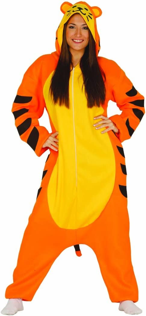 NET TOYS Disfraz de Tigre Mono Tigre L 42/44 Overol Gato Salvaje ...