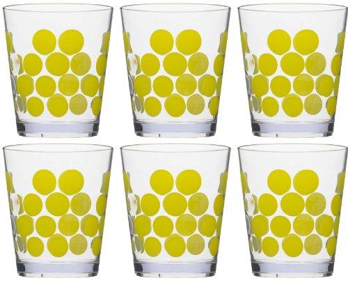 Zak Designs Dot Dot 15 oz. Plastic Tumblers, Kiwi, 6 piece set