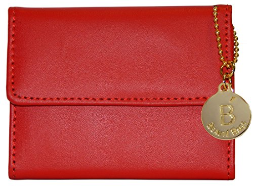 Beaute Fashion B-Logo Slim Wallet, Genuine Leather for Women and Girls