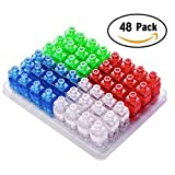 Amazer LED Finger Lights, 100Pack or 48Pack Bright Fingers Lights Party Favors Birthday Novelty Toys for Kids Adults (48 Pack)