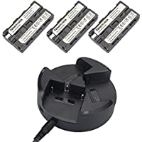 NP-F550 Newmowa Battery (3-Pack) and 3-Channel Charger kit for Sony NP-F550 and Sony CCD-SC55 TR516 TR716 TR818 TR910 TR917