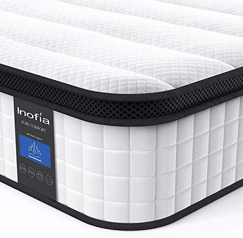 Inofia Full Mattress 10 Inch Hybrid Innerspring Double Mattress In A Box Cool Bed With Breathable Soft Knitted Fabric Cover Certipur Us Certified 100 Risk Free Nights Trial