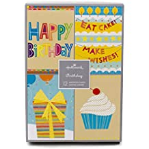 Hallmark Assorted Birthday Greeting Cards (Birthday Icons, 12 Cards and Envelopes)