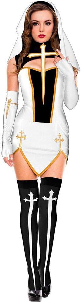 Bweele Disfraz de monjas Amen, Disfraz de Monja para Mujer Disfraz ...