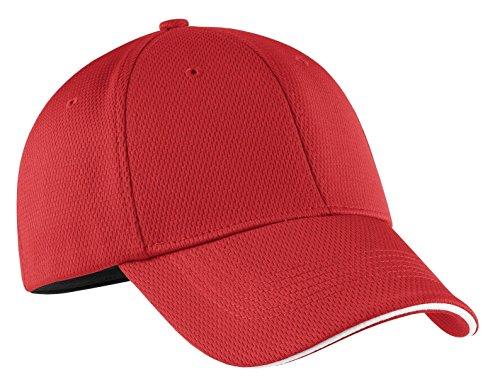 NIKE Golf - Dri-FIT Mesh Swoosh Flex Sandwich Cap. 333115 Sport Red M/L