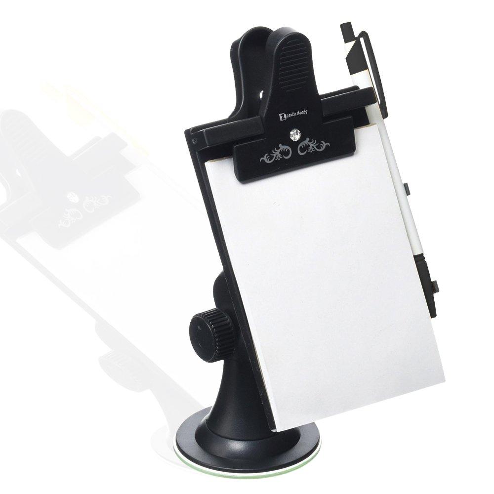 Universal Suction, Flexible Neck Mount GA3 Zento Deals Car Note Pad//Memo Pad//Clip Board