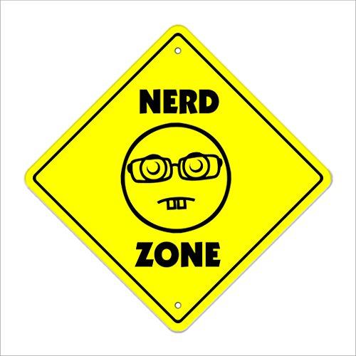 Nerd Crossing Sign Zone Xing | Indoor/Outdoor | 12