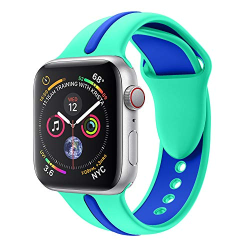 Replacement Sports Soft Silicone Watch Band Strap For Apple Watch Series 4 44MM