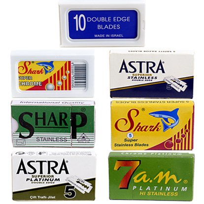 Double Edge Razor Blade/Safety Razor Blade Variety Pack, 100 Blades, For all Standard Double Edge Safety Razors