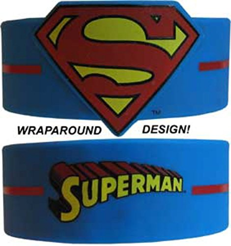 DC Comics Superman Rubber Bracelet Wristband Officially (Officially Licensed Wristbands)