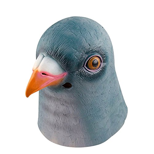 Youtumall Halloween Mask Latex Brown Horse Head Mask for Party Halloween Costume (Pigeon)]()