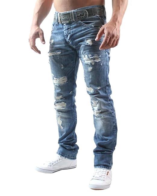 Cipo & Baxx Donna Denim stretch Jeans Pantaloni Blu 256 Jeans Abbigliamento da donna