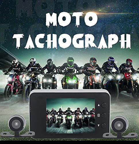 ACHICOO Enregistreur de Conduite Moto Sports Hors Route Dashcam Avant Arri/ère Double Cam/éra Dash