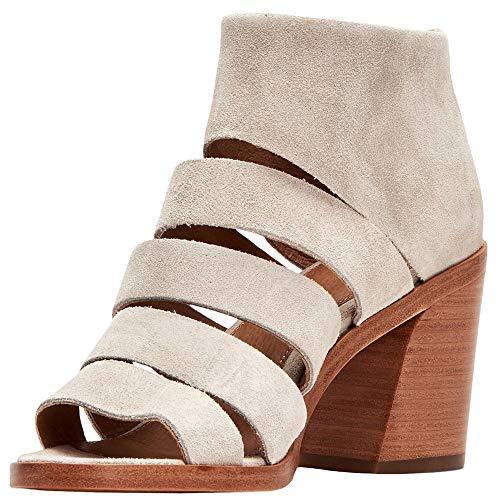 Frye Women's Tash Cut Out Bootie Heeled Sandal, Milkshake, 9.5 M US