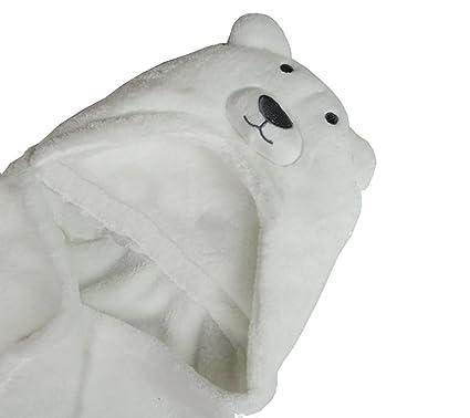 Kids Toalla de playa manta con capucha albornoz Poncho Animal (oso polar, conejo)