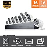 SDH-C75083-16 - Samsung Wisenet 16 Channel Full HD Video Security System with 8 Additional Cameras