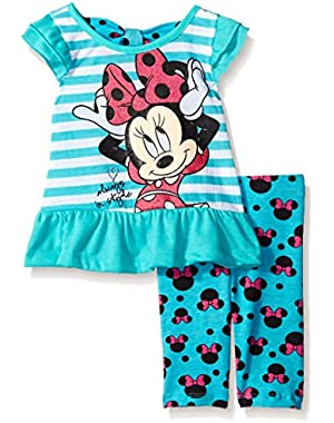 Baby Girls' 2 Piece Minnie Always In Style Top and Printed Legging