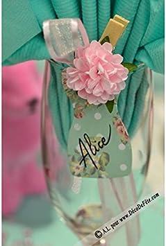 ALLDECO 8 Pinces Pivoine Rose