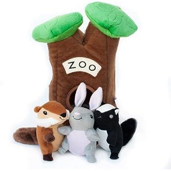 Pet Supplies : Pet Squeak Toys : ZippyPaws Burrow Zoo