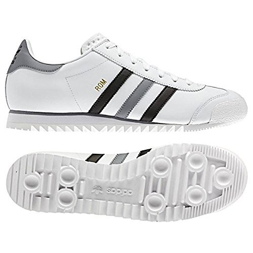 another chance sports shoes 100% top quality adidas Rom Chaussures De Sport Basket Baskets Cuir Blanc ...