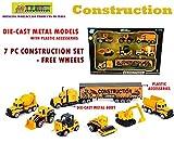Toy-Station - Die CAST Metal Play Set - Perfect Toy Set for Kids (Construction Set - Orange)