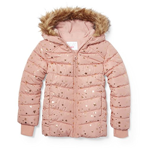 Cherry Jacket Girls - The Children's Place Girls' Little Puffer Jacket, Cherry ice 86928, XS (4)