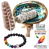 JL Local White Sage Smudging Kit Smudge Stick Gift Kit + Instructions & Blessing for Beginners
