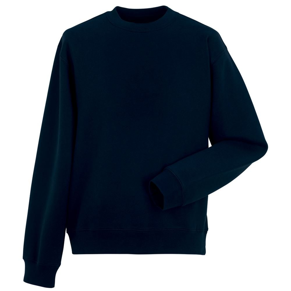 New Mens Brushed Fleece Sweatshirt Jumper Heavy Duty Workwear Plain Casual Warm Unbranded