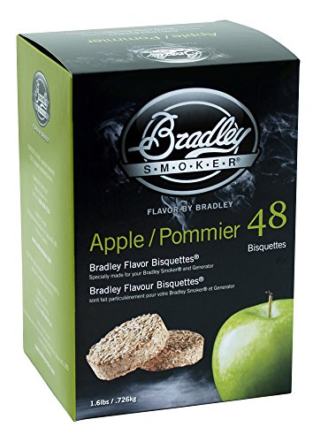 Bradley Smoker BTAP48 Apple Bisquettes 48 Pack ()