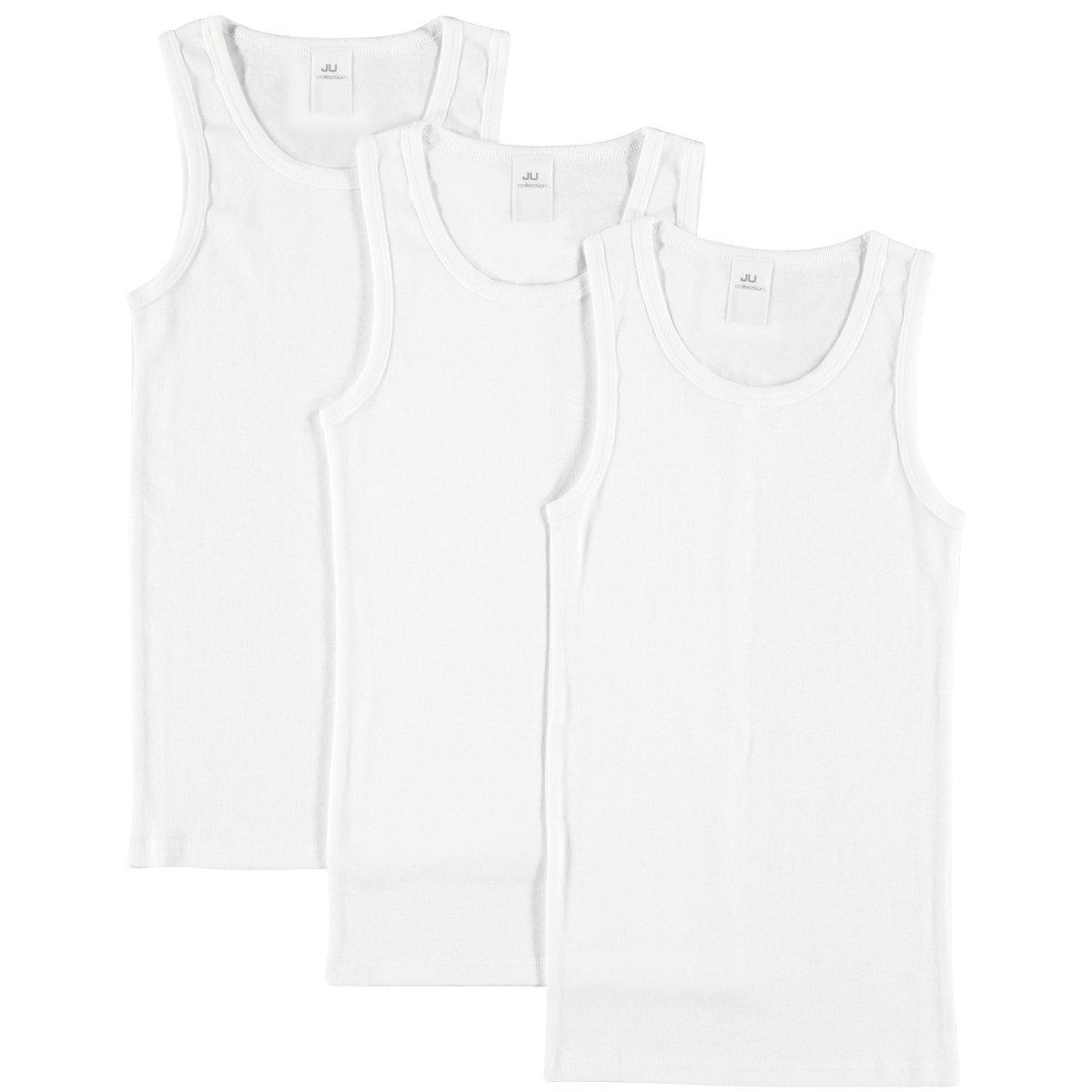 JOLO Underwear Jungen Unterhemd im 3er-Pack aus Reiner strapazierfähiger Baumwolle zum Sparpreis KUH01