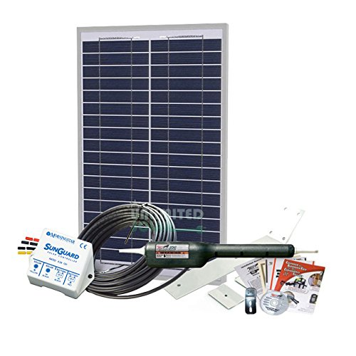 Unlimited Solar 20 Watt Solar Gate Charging Kit With