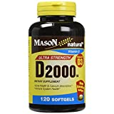 Mason Natural Vitamin D3, 2000 IU, Softgels, 120 ea For Sale
