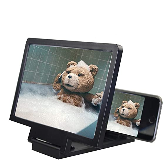 Anti Radiation Phone Screen Magnifier Cellphone Projector Hd 3d Movie Watching Holder Make Your Mobile Phone Screen Turn Into Pad Screen Watch Video