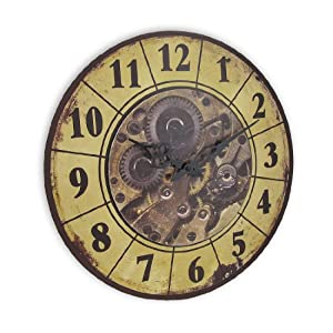 Things2Die4 Steampunk Gear Art Wall Clock 15 in.