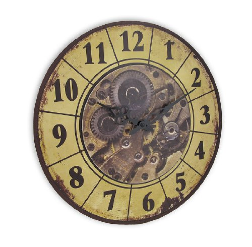 Steampunk Gear Art Wall Clock - industrial wall art