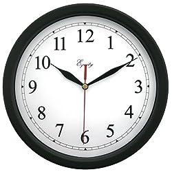 Equity by La Crosse 25203 10 Inch Black Clock