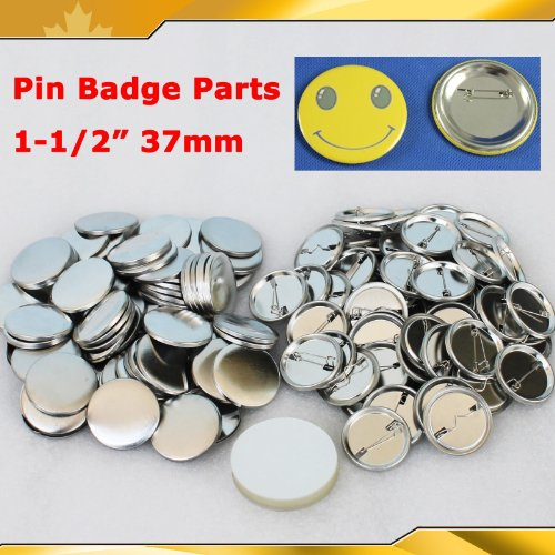 "1-1/2"" 37mm 100Sets Pin Badge Button Parts Supplies for Pro"