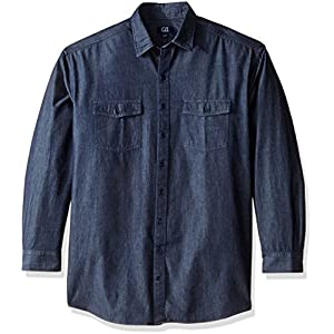 Cutter & Buck Men's Big and Tall Long Sleeve Eqinox Denim Shirt