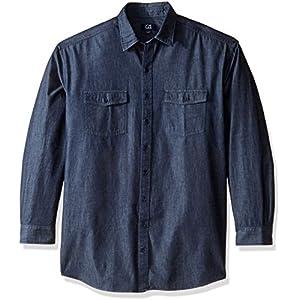 Cutter & Buck Men's Big and Tall Long Sleeve Eqinox Denim Shirt