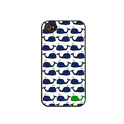 iPhone 5 5s Case Preppy Whales Blue and Green Sherrys Stock TM (Iphone 4 Case Preppy)