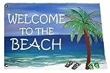 Welcome to the Beach Bar Yard Flag