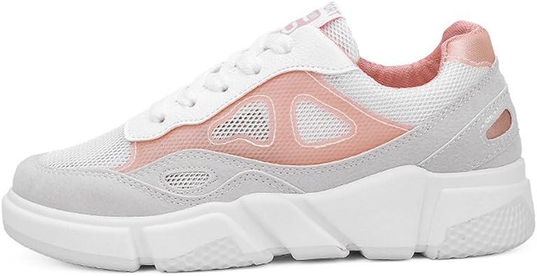 LFEU - Zapatillas de Running de Lona Mujer, (Gris Rose), 38 EU: Amazon.es: Zapatos y complementos