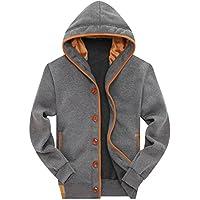 Wantdo Men's Button Hoodie Sweatshirts Jacket
